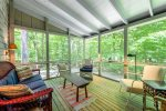 The screened porch is great for relaxing
